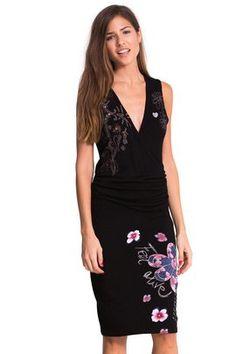 Robes pour femme   Desigual.com Automne Hiver, Robes Femme, Robe Noire  Serrée cb7302269e2