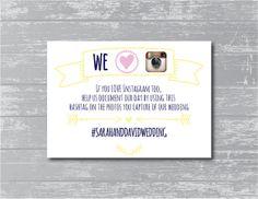 Custom Laurel Wreath Instagram Hashtag Sign DIY by CreativePapier, $8.00