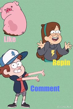 Like for Waddles Repin for Mabel Comment for Dipper<<<<I did all!