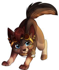 Cute Animated Wolf