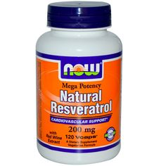 Now Foods, Natural Resveratrol, Mega Potency, 200 mg, 120 Vcaps - iHerb.com
