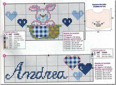 coelho enxoval bebês ponto cruz cross stitch