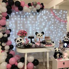 50 Ideias para Festa Panda 2 Panda Themed Party, Panda Birthday Party, Panda Party, Bear Party, Diy Birthday, Birthday Party Decorations, Birthday Parties, Panda Baby Showers, Panda Decorations