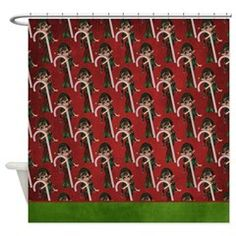 Christmas Elf Fantasy Shower Curtain 4 > Christmas Holiday > MarloDee Designs Shower Curtains