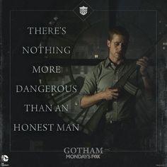 Gotham - - how true - (DC Batman): Don Sal Moroni in reference to Det. Gotham Batman, Batman Comics, Gotham Villains, Batman Origins, Gotham Quotes, Gotham Tv Series, Jim Gordon, Dc Movies, Films
