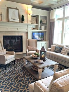 How To Quickly And Easily Create A Living Room Furniture Layout? Living Room Remodel, My Living Room, Home And Living, Living Room Decor, Living Area, Fireplace Built Ins, Fireplace Shelves, Fireplace Hearth, Fireplace Ideas
