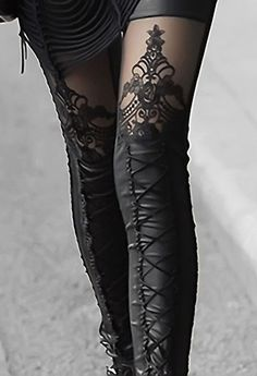 Filagree LaceUp Tights. Talia from The Supernatural London Underground urban fantasy series. http://amzn.to/1X4rXpj