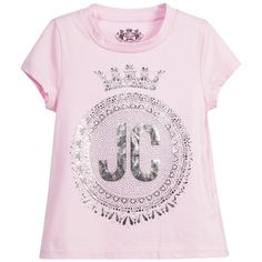 Juicy Couture girls pale pink cotton t-shirt made from pure cotton fabric. Description from childrensalon.com. I searched for this on bing.com/images