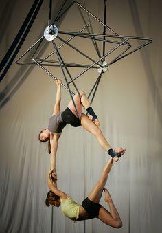 multiple diamonds aerial. Neat apparatus