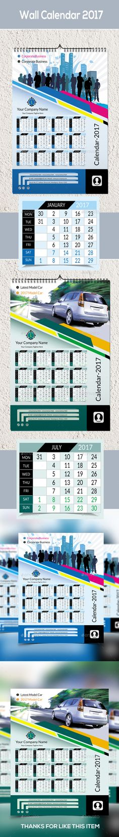 2018 Calendar Template, Calendar design and Print templates - calendar flyer template