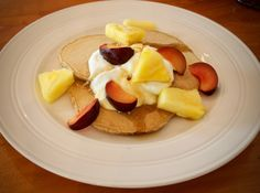 Light and Fluffy Wheat Bran Pancakes by tastyshoestring.com