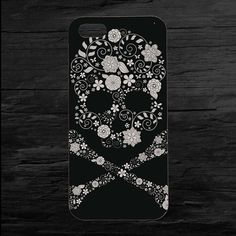 Flower Sugar Skull Photo iPhone 4 and 5 Case by theminifab on Etsy, $11.00