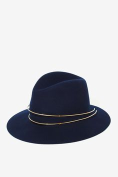 Janessa Leone Wool + Gold Hat