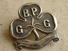 ANTIQUE GIRL GUIDE BADEN POWELL SILVER BADGE TREFOIL PROMISE BADGE 1910 - 1921 | eBay Guide Badges, Baden Powell, Girl Guides, Girl Scouts, Childhood, Antique, History, Silver, Ebay