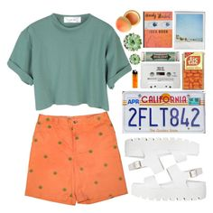 """""""// California High"""" by spaceygraceyy ❤ liked on Polyvore featuring StyleNanda, Miss Bibi, Polaroid, Burberry and Tony Moly"""