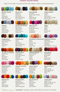 Colour Combinations for yarn! are you searching for hacks about knitting for beginners? or crochet for beginners? these yarn hacks are designed to make your yarn crafts, yarn storage and crochet projects so much easier. how to choose yarn colours, matchin