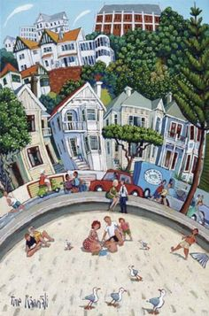 Oriental Bay Beach by Timo Rannalli for Sale - New Zealand Art Prints New Zealand Houses, New Zealand Art, Cuba Street, Wellington New Zealand, Nz Art, Kiwiana, Print Store, Contemporary Artists, Oriental