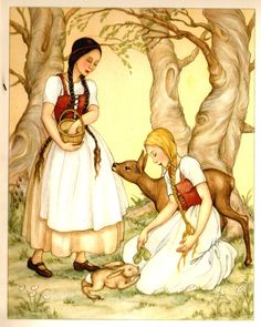 Snow White and Rose Red  ~Brunhild Schlotter~