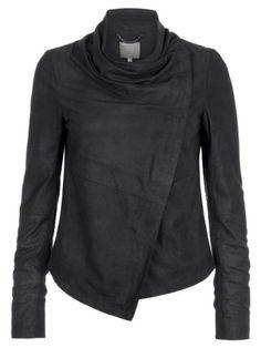 Amazon.com: Muubaa Sinoia Drape Jacket in Black: Clothing