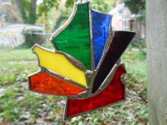 Abstract Rainbow Stained Glass Ornament by TriangularRainbows