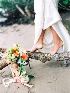 Australian bridal inspiration: http://www.stylemepretty.com/australia-weddings/2015/04/07/exotic-australian-bayside-wedding-inspiration/   Photography: Mark Potter - http://www.markpotterphotography.com/