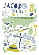 Let's Get Wild Children's Birthday Party Online In... | Minted