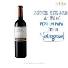 Dile a papá #NoHayNadieComoTú y obséquiale un arreglo #Celiflor con una botella de vino www.floristericeliflor.com