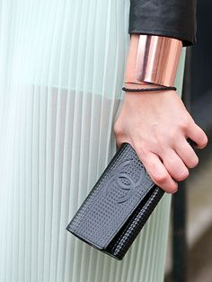 Copper cuff and Chanel clutch. Chanel Handbags, Chanel Clutch, Fashion  Handbags, Fashion 3ab2487d47