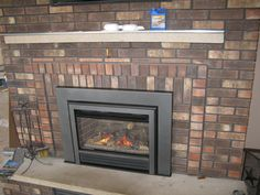 Valor G3 789JLN Gas Insert Installed Into Existing Masonry Fireplace.