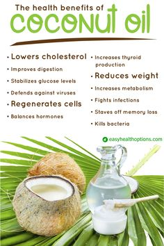 Coconut oil has so many uses and just as many healthy benefits!