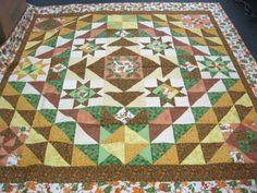 "Karen Cedres sent in this quilt she titled ""Rustling Leaves"" to Hopes & Dreams. (www.hopesanddreams.quiltersdreambatting.com)"