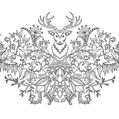 Free Coloring Page For Adults Adultcoloring See More Johanna Basford Art