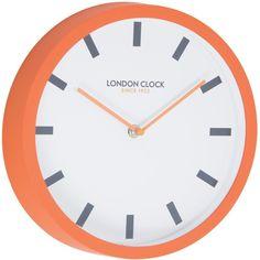 Pop Wall Clock Orange 25cm