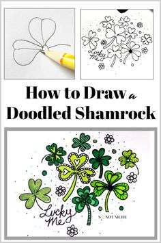 Art Tutorial: How to Draw a Shamrock for Bullet Journals