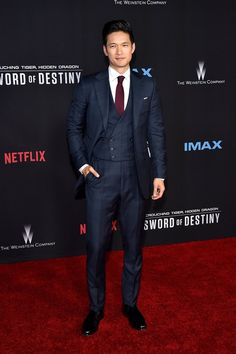 attends the premiere of Crouching Tiger, Hidden Dragon: Sword of Destiny on February 22 2016 at AMC Universal City Walk. Universal City Walk, Sword Of Destiny, Mike Chang, Glee Fashion, Tim Beta, Alec Lightwood, Malec, Shadow Hunters, Well Dressed Men