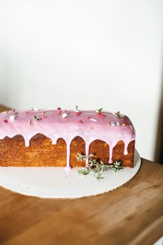 Molly Yeh's Lemon-Olive Oil Cake with Cranberry Glaze