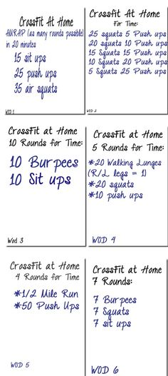 6 Crossfit workouts