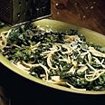 Spaghetti with braised kale - I added some seared scallops and it made a great healthy and tasty meal!