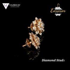 Gold Ring Designs, Gold Bangles Design, Gold Jewellery Design, Gold Jewelry, Jewelry Design Earrings, Gold Earrings Designs, Diamond Earing, Diamond Studs, Ear Rings