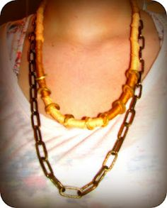 DIY necklace (easy to do!)