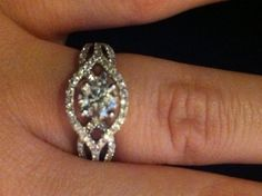 Love this ring I found on Weddingbee.com Share your inspiration today! would love something very similar to this one. give thought on what you think.