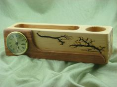 Desk Top Caddy by FrillsElectricWood on Etsy Lichtenberg Figures, Wood Projects, Projects To Try, Wood Burning, Drawings, Unique Jewelry, Handmade Gifts, Painting, Etsy