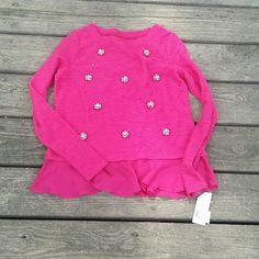 ♡SALE♡ NWT silver studded pink long sleeve NWT Silver studded pink long sleeve. Sheer material at bottom. Size small. Maison Jules Tops