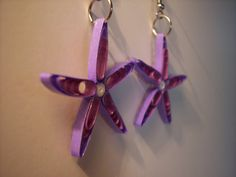 Quilled Paper Starfish Earrings
