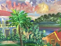 Items similar to West End original Jamaican art by Karl Ricketts on Etsy Barbados, Jamaican Art, Caribbean Art, West End, Land Scape, Colours, Watercolor, The Originals, Ideas