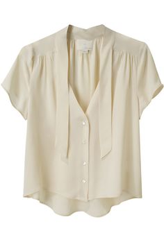 girl by band of outsiders / neck tie blouse