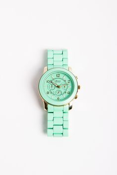 Cool oversized watch in one of the season's hottest hues!#mint #style #love I keep saying im going to quit buying this color but I can't help myself...