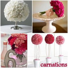 Rustic Carnation Flower Centerpiece | rustic centerpieces for weddings with red