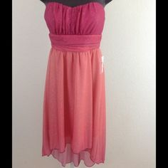 Pink Shimmer High Low Dress (Juniors) Brand New I.N. San Francisco Dress Sweetheart Shimmering Pink High Low. Juniors size 5 I.N. Dresses High Low