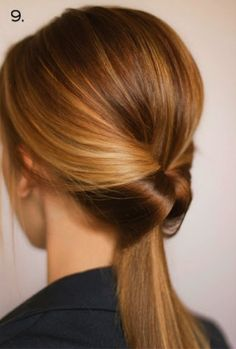 Inverted ponytail. I know the basis of how to do this look but it never looks right in my hair, I love it anyway!